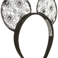 Black Lace Ears By Lilly Lewis For Topshop - Accessories - New In This Week - New In - Topshop USA
