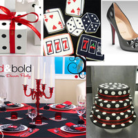 Casino Night Party Ideas - Polka Dots - Black &amp; Red