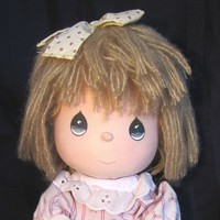 Vintage Precious Moments Musical Doll, Mandy with tags Applause 1989