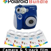 Polaroid PIC-300 Instant Camera in Blue Accessory Kit