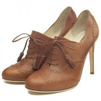 Rupert Sanderson Tan Elbamatt Lace-up Ankle Boots - Polyvore