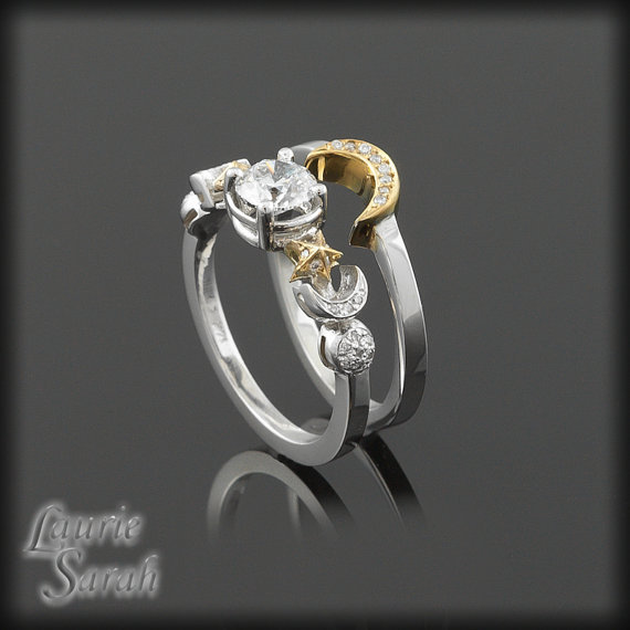 Sun Moon And Stars Diamond Engagement From