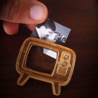 Retro TV Brooch/Pin by VectorCloud on Etsy