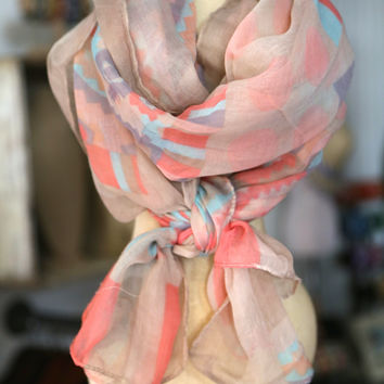 Pastel Indie Scarf - ONE-SIZE