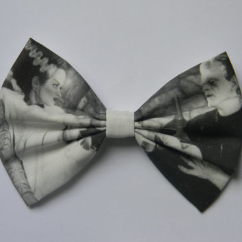 Frankenstein and His Bride Inspired Classic Hair Bow