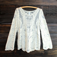 laced ivory top