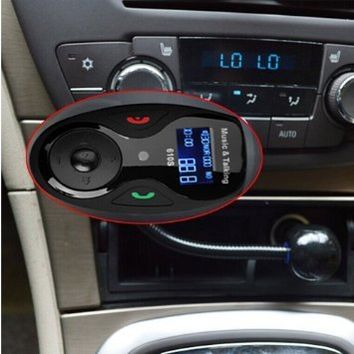 VersionTech Univeral LCD Display Bluetooth Wireless Car MP3 FM Transmitter Modulator Radio Adapter Handsfree Car Kit with Hands-Free Calling, Music Control, Mic, and Charging Port for iPhone 6 iPhone 6 Plus iPhone 5S 5 5C 4S 4 iPod, Android Smart Cell phon