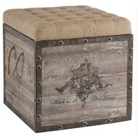 French Emblem Wood Storage Crate - Belle Escape