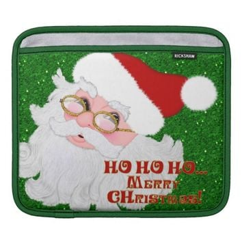 Merry Christmas Santa Face-iPad Sleeve Horizontal