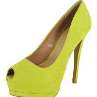 GREEN SUEDE SEXY PUMP @ KiwiLook fashion