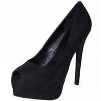 BLACK SUEDE SEXY PUMP @ KiwiLook fashion