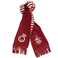 Striped Scarf Maroon - Maroon / one
