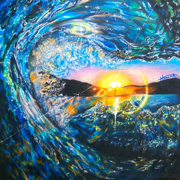 Colorful Wave Drawing