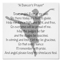 A Dancer&#x27;s Prayer Dance Poster from Zazzle.com