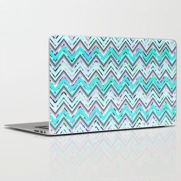 Mint Waves Laptop & iPad Skin by Ornaart