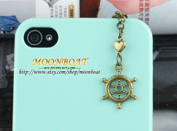 3.5mm Retro Brass Rudder Dust For iphone 4s,iPhone 4,iPhone 3gs,iPod Touch 4,HTC,Nokai,Samsung,Sony MB720