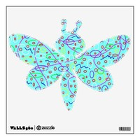 Aqua Fun Dragon Fly Wall Decal from Zazzle.com