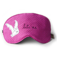 eyemask bite me pink adjustable by squirrellicious on Etsy