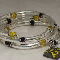 Baseball fan bracelet -- Pittsburgh Pirates