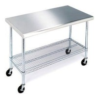 "Amazon.com: Stainless Steel Work Table - 49"": Home & Garden"