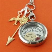 Hunger Games Floating Locket Set - Spiffing Jewelry