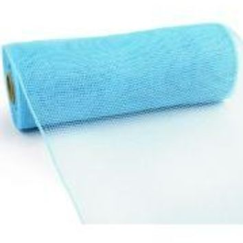 10in Wide x 30ft Long Poly Mesh Roll: Plain Turquoise