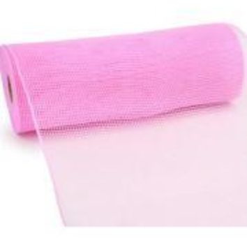 10in Wide x 30ft Long Poly Mesh Roll: Plain Pink