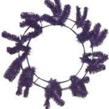 Purple Elevated Work Wreath Form