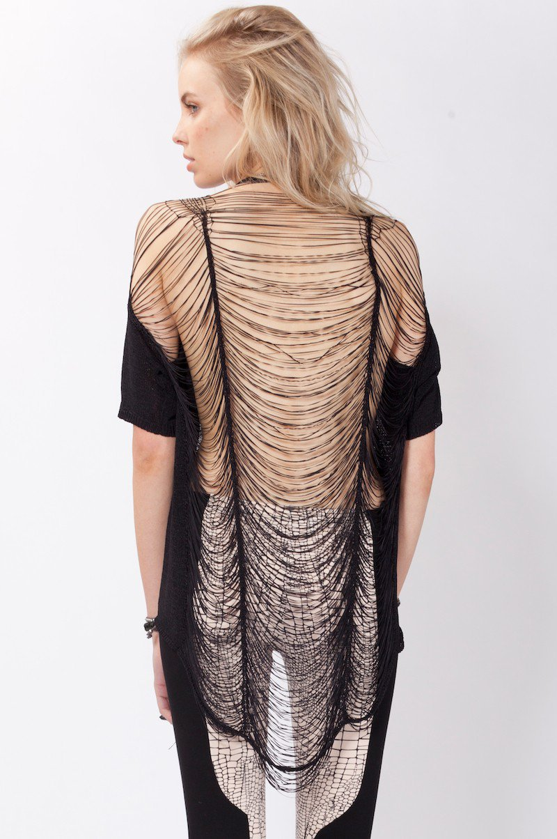 Destroyed Knit Top