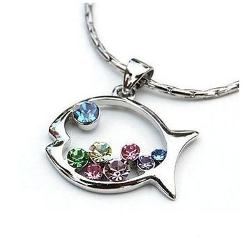 Cutie McFishy Silver Fish Necklace