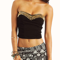 spike-embellished-bustier BLACKGOLD - GoJane.com