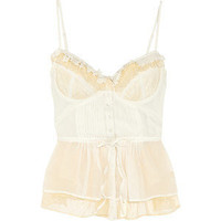 Elizabeth and James Madeleine silk corset top - Polyvore