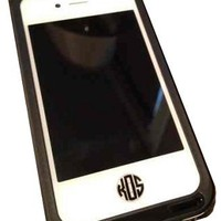 Monogrammed iPhone Button Decal | Custom Tiny Sticker | Marley Lilly