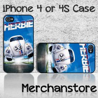 VW Beetle Herbie 53 Racing Custom iPhone 4 or 4S Case Cover