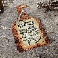 Wine Bandit Glass Cheese Platter