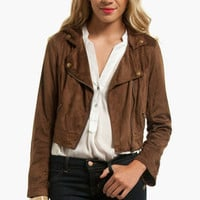 Abby Faux Suede Cropped Jacket $23