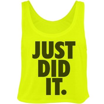 just did it neon yellow crop top