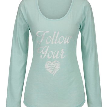 """follow your heart"" long sleeve tee"