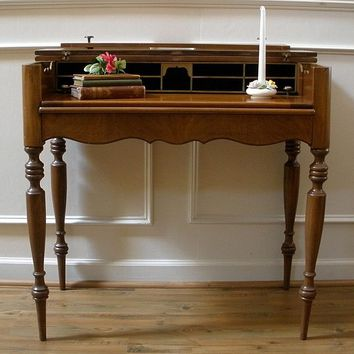 Antique American Mahogany Spinet Style Desk.