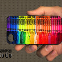 iPhone 4 case, Melting Crayola Crayons design, custom cell phone case, Original design