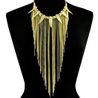 DAGG LG FRINGE NECKLACE