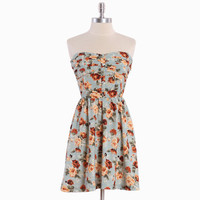 antolina strapless floral dress - $34.99 : ShopRuche.com, Vintage Inspired Clothing, Affordable Clothes, Eco friendly Fashion