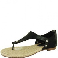 BLACK THONG STYLE SANDAL @ KiwiLook fashion