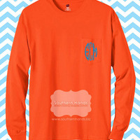 Monogram Pocket Tee Long Sleeve