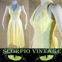 Mexican Cottong Hanky Hem Halter Dress - On Ebay