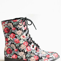 Fleeting Floral Boots - $52.00: ThreadSence, Women's Indie & Bohemian Clothing, Dresses, & Accessories