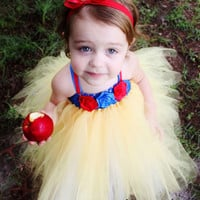 Snow White Tutu Dress, Halloween Costume, baby girl, infant, toddler, child, 12, 24, 2t, 3t, 4t, 5t