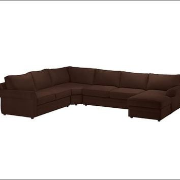 PEARCE 4-PIECE CHAISE SECTIONAL WITH WEDGE - PERFORMANCE EVERYDAYSUEDE™