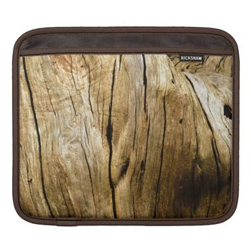 Timber - iPad Sleeve with a photorealistic print