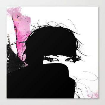 Demure Canvas Print by Allison Reich